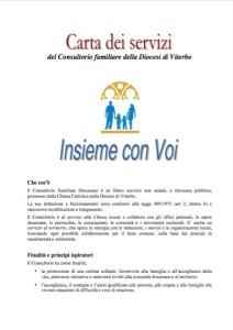 Carta dei servizi Consultorio familiare Diocesi di Viterbo